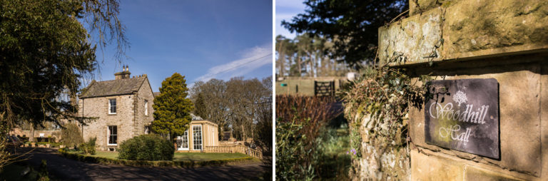 Woodhill Hall bathed in Sunshine before a wedding