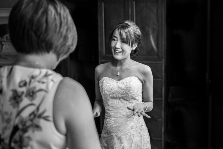 Mihoko looking nervous before Mansion House wedding