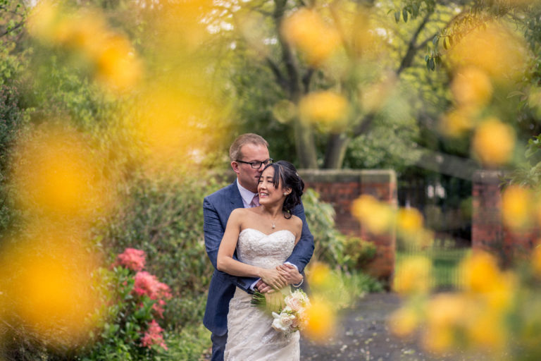 A romantic wedding moment at Mansion House Jesmond