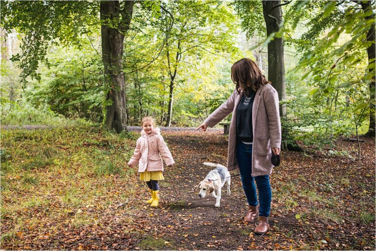 Chopwell Woods Family Photography - enjoying a walk through the woods in Autumn
